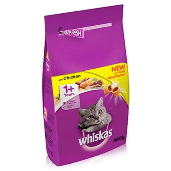 WHISKAS CAT ADULT DRY CHICKEN  350GR