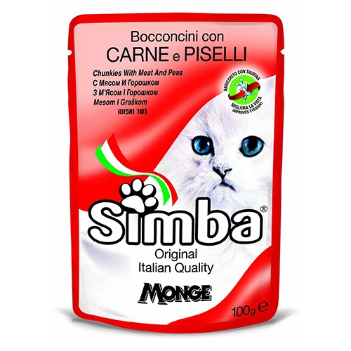 SIMBA CAT MEAT & PEAS  100GR