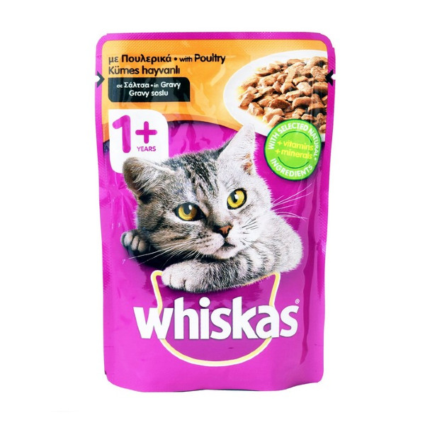 WHISKAS WITH POULTRY IN JELLY  100GR