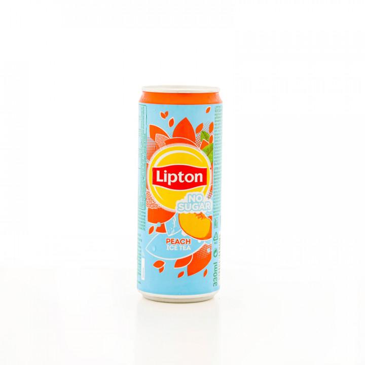 LIPTON PEACH ICED TEA NO SUGAR  330ML