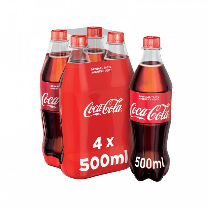 COCA COLA  4 X 500ML