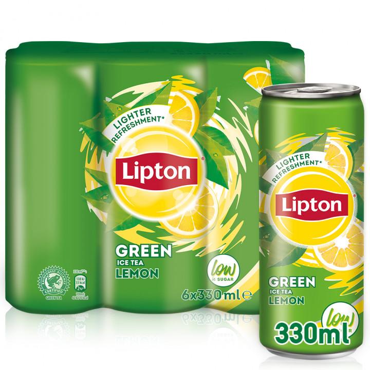 LIPTON GREEN LEMON ICED TEA  6 X 330ML