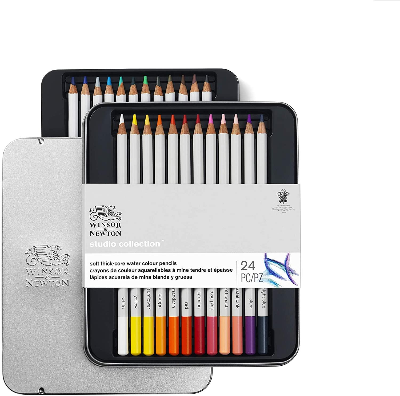 Winsor & Newton Watercolour Pencil Tin (24pcs)