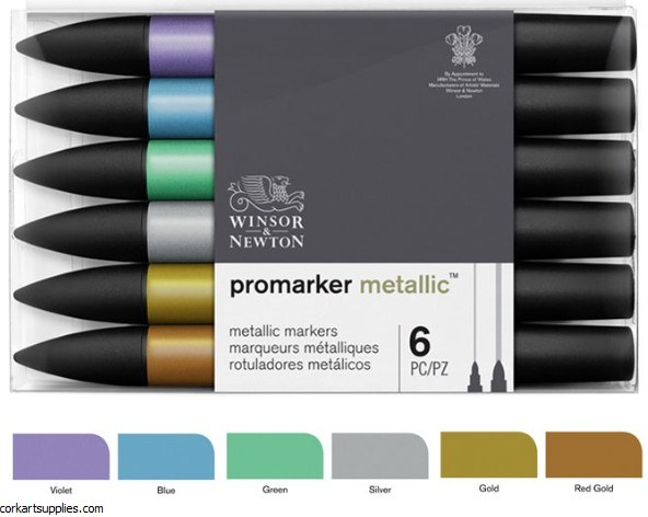 Winsor & Newton ProMarker Metallic Set of 6