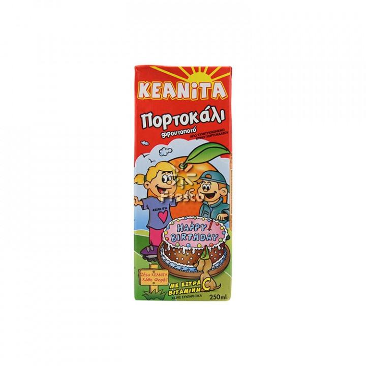 Φρουτοποτό Κεανίτα Πορτοκάλι 250ml   KEANITA ORANGE 250ML