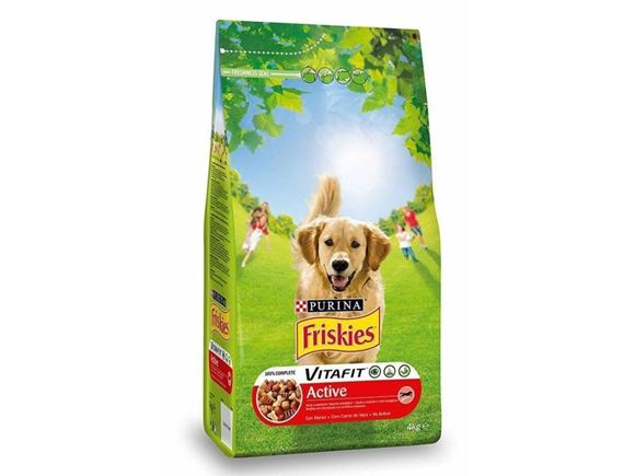 Friskies Purina active dry food with beef 4kg