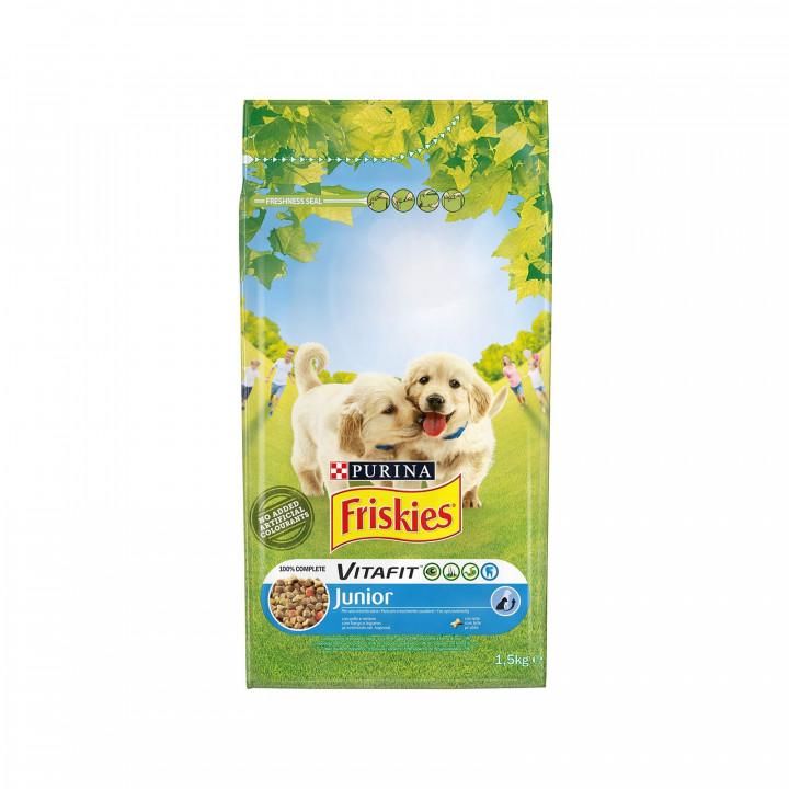 FRISKIES DOG VITAFIT JUNIOR CHICKEN & VEGETABLE 1,5KG