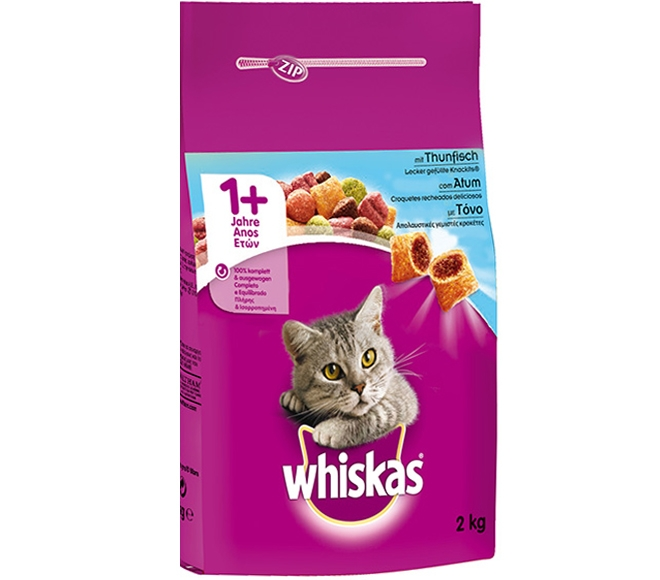 WHISKAS DRY ADULT CAT FOOD WITH TUNA 2KG