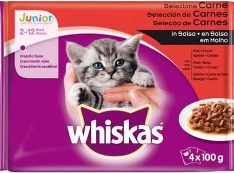 Whiskas Junior Cat Meaty Selection 4 x 100g