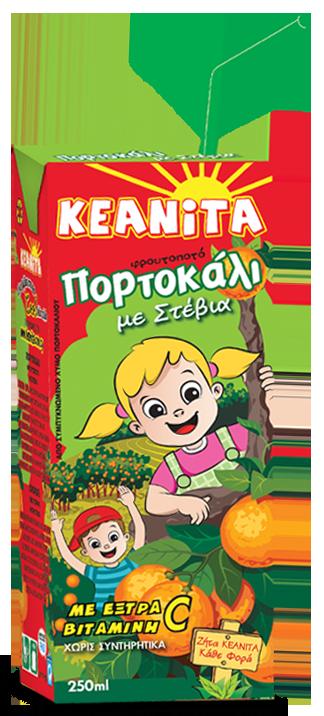 KEANITA ORANGE STEVIA 250ML