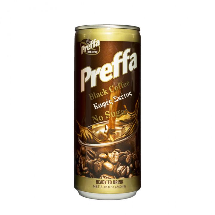 PREFFA COFFE BLACK & NO SUGAR 240ML