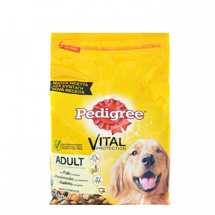 Pedigee dog Food Chicken with Vegetables 3kg
