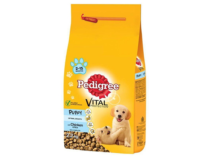 Pedigee Vital Protection Chicken and Rice Dry Food 2.2kg