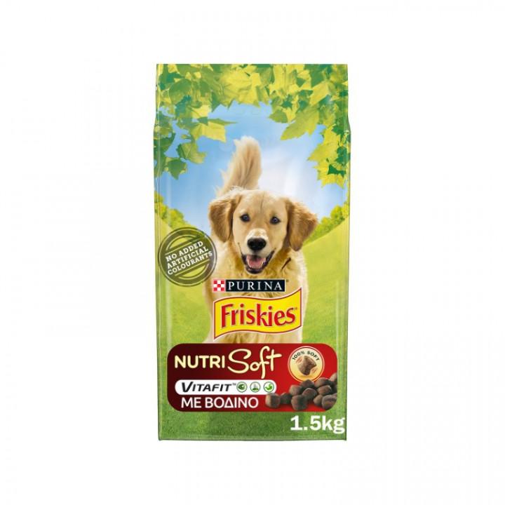 FRISKIES DOG NUTRISOFT BEEF - 1.5KG