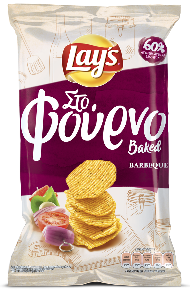 LAYS STO FOURNO BARBEQUE  72GR