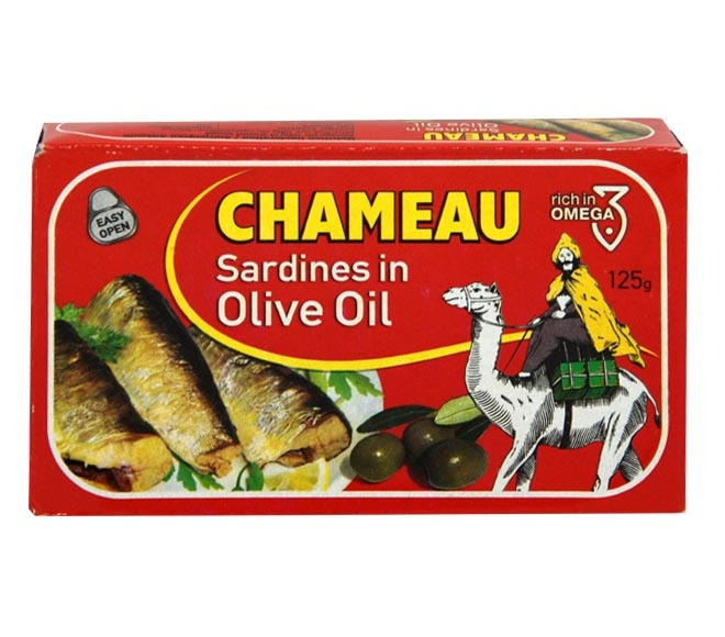 CHAMEAU SARDINES IN OLIVE OIL  125G