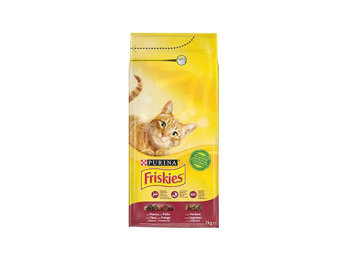 FRISKIES DRY CAT BEEF, CHICKEN & VEGETABLES  2KG