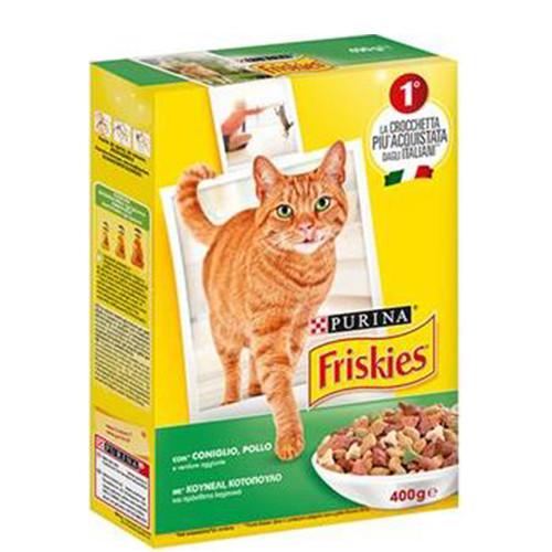 FRISKIES CAT RABBIT, CHICKEN & ADDED VEGETABLES  400GR