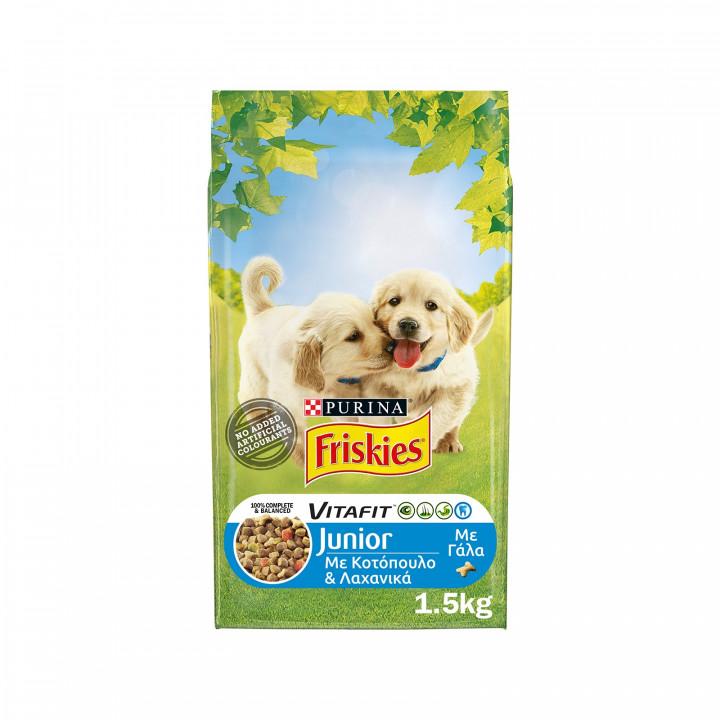 FRISKIES JUNIOR DOG CHICKEN & VEGETABLES  1.5KG