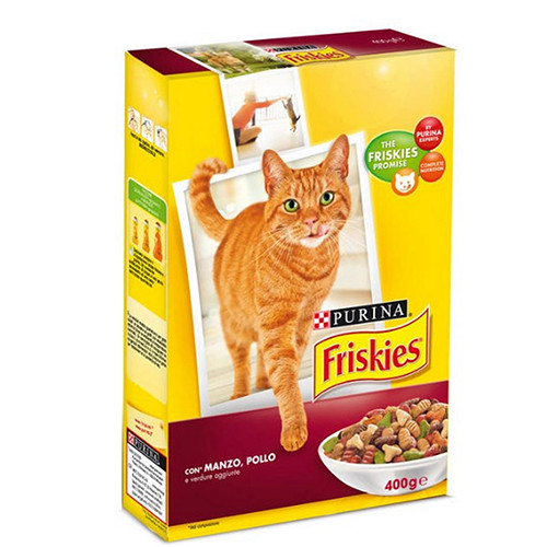 FRISKIES ADULT BEEF, CHICKEN AND VEGETABLES  400GR