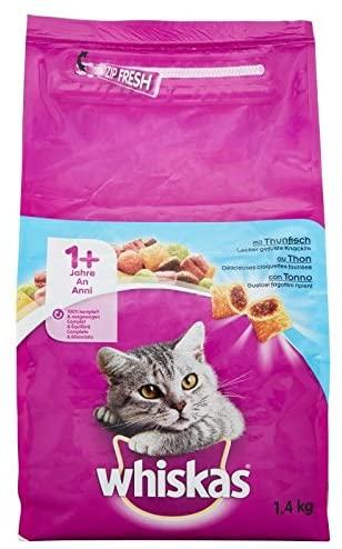 WHISKAS CAT ADULTS TUNA  1.4KG