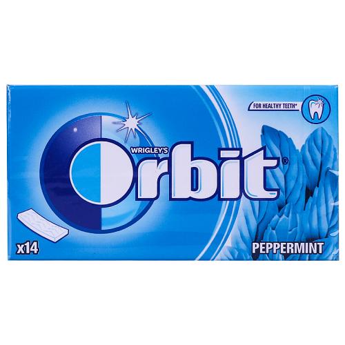 ORBIT peppermint sugar free  14 pieces