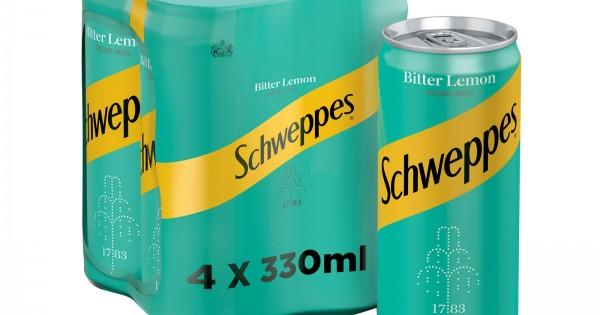 SCHWEPPES BITTER LEMON  4 X 330ML