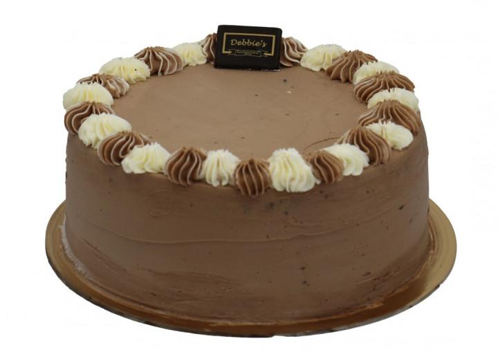 "Black & White Cake 9"""