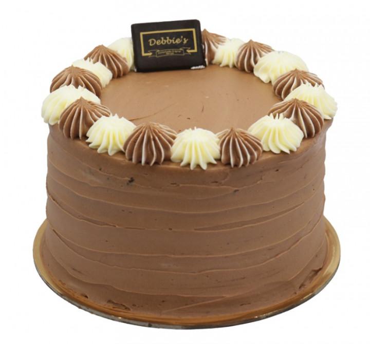 "Black & White Cake 6"""