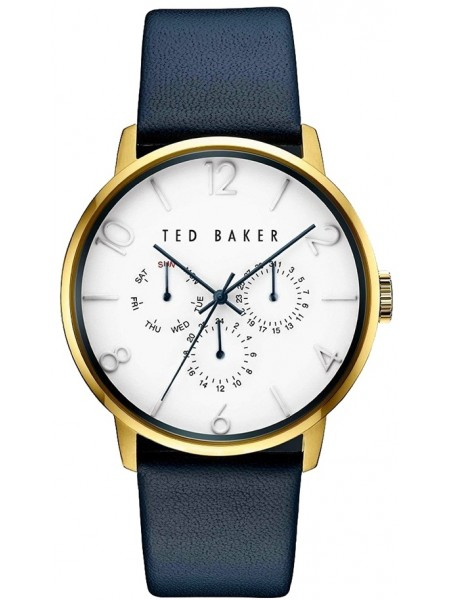 TED BAKER GENTS WATCH GOLD/BLUE 42mm