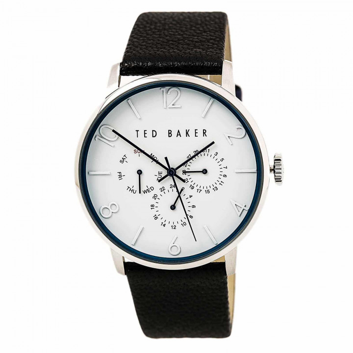 TED BAKER GENTS WATCH SILVER/BLACK 43mm