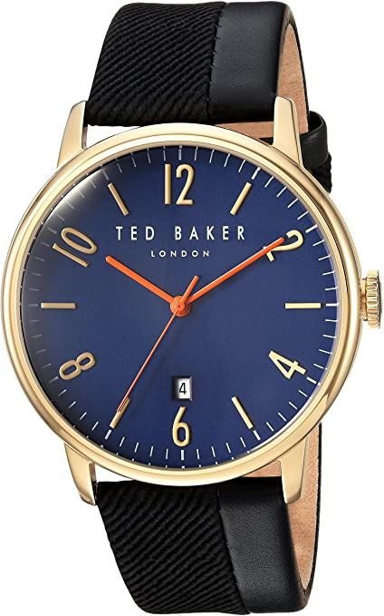 TED BAKER GENTS WATCH BLACK/GOLD