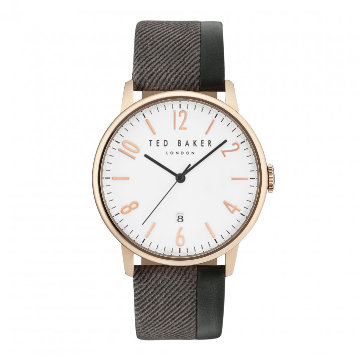 TED BAKER GENTS WATCH GREY/R.GOLD