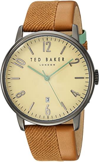 TED BAKER GENTS WATCH BROWN/GUN METAL