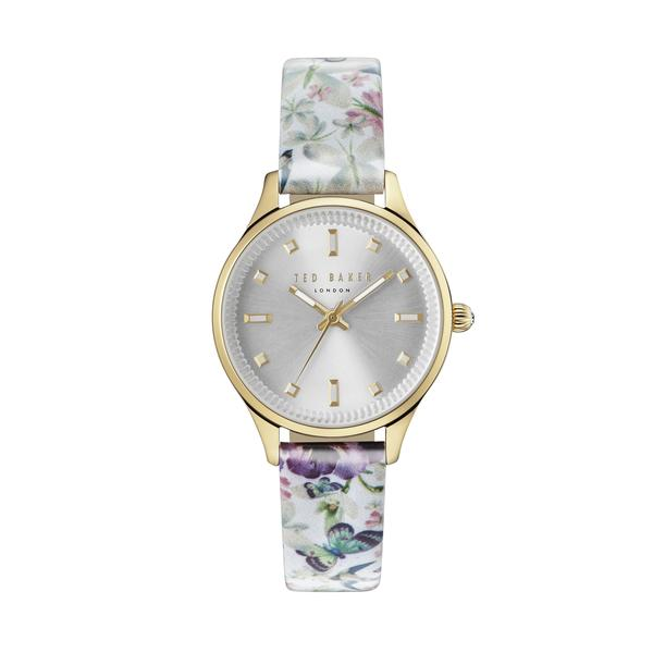 TED BAKER LADIES WATCH LBLUE FLOWER/GOLD 32mm