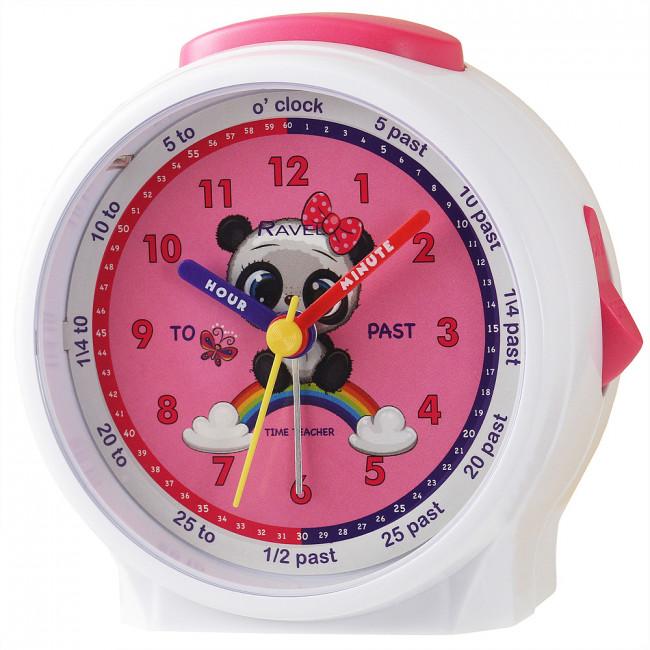 Ravel Panda  Children's Character Alarm Clock white
