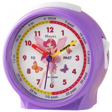 Ravel Fairy Children's Character Alarm Clock purple