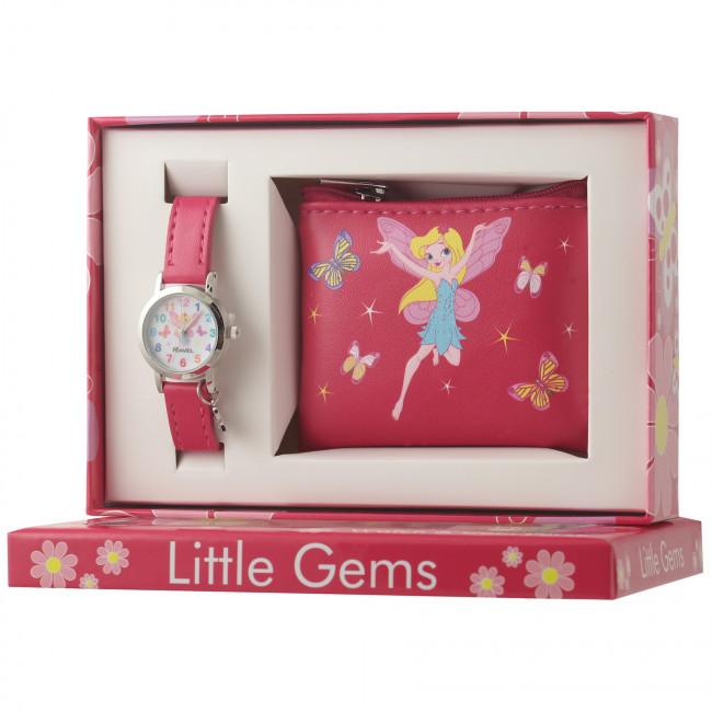 Little Gems Watch & Coin Purse Gift Set - Fairy pink 24mm