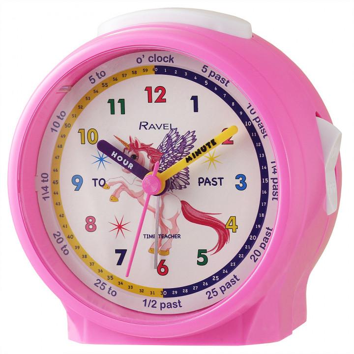 Ravel Unicorn Children's Character Alarm Clock pink