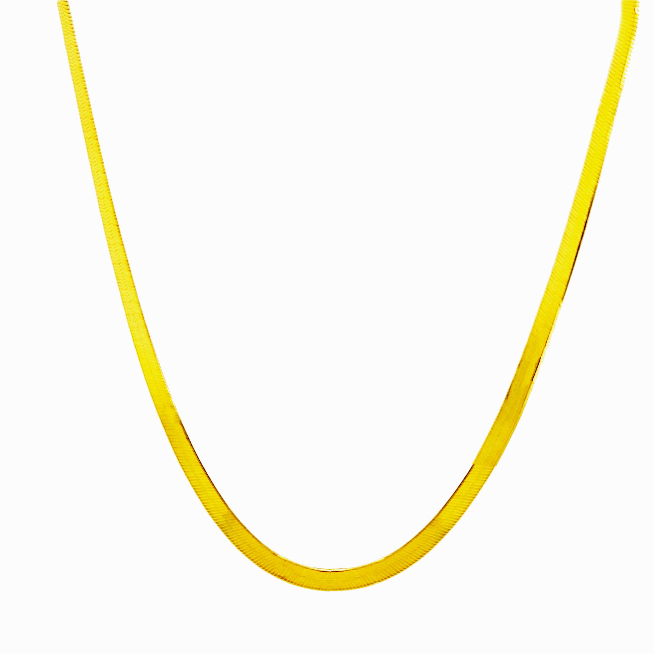 Κολιέ σε ασήμι αλυσίδα - Πλάτος αλυσίδας 3.5mm