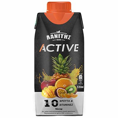 Lanitis Active 10 Fruits & Vitamins 330ml