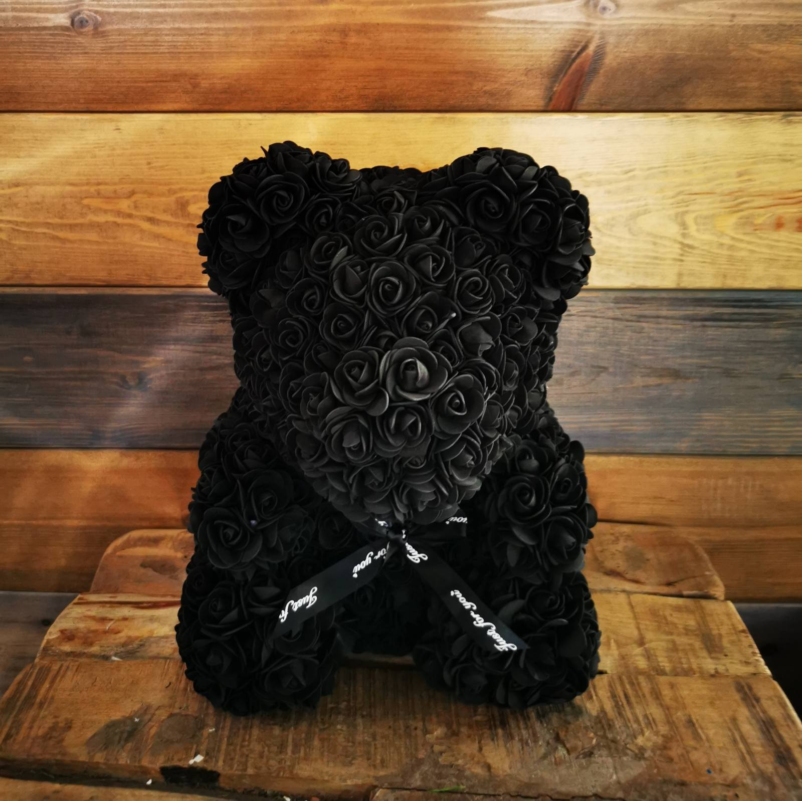 ARTIFICIAL BLACK TEDDY BEAR SMALL SIZE
