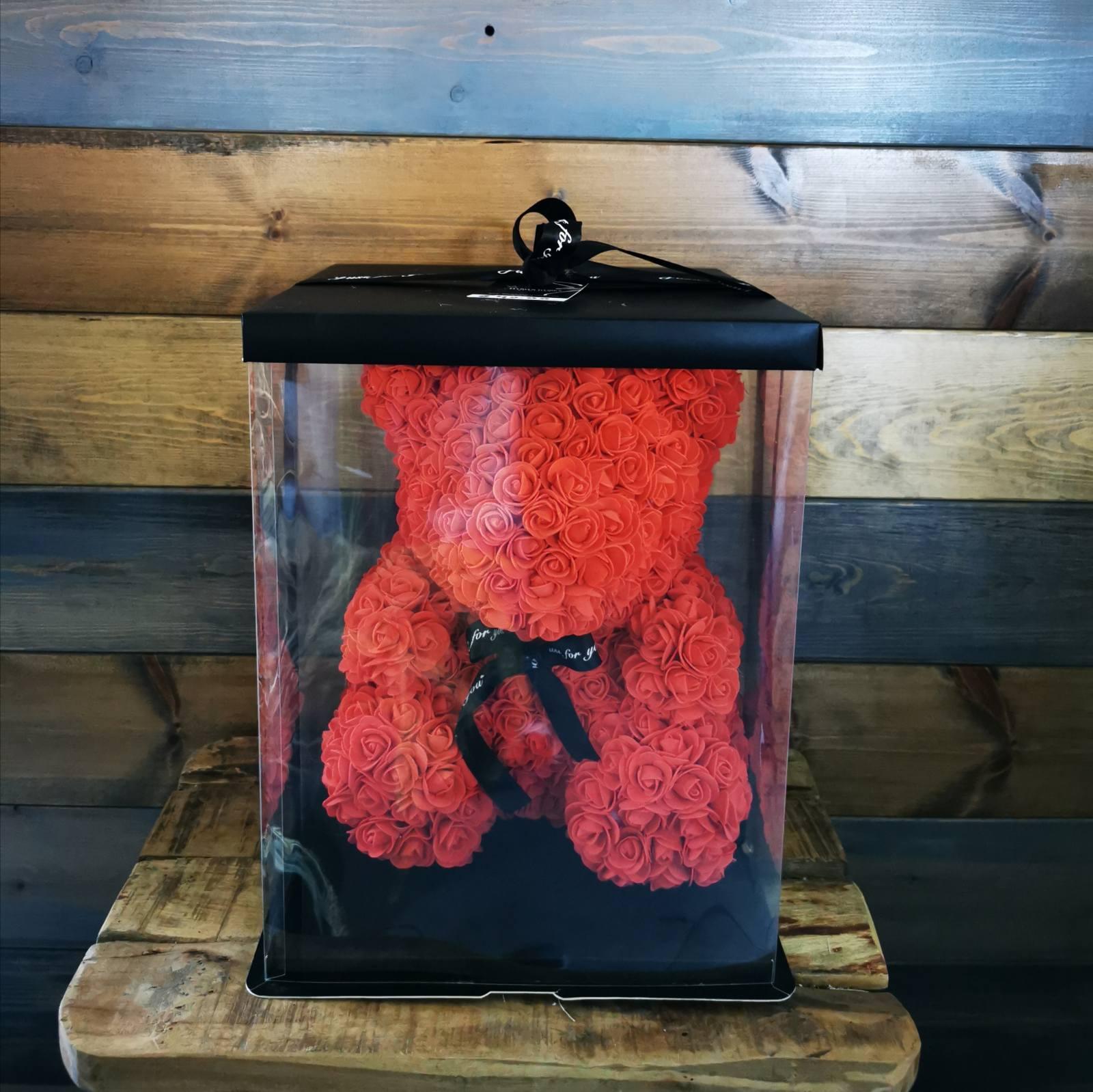 ARTIFICIAL TEDDY BEAR RED BIG SIZE