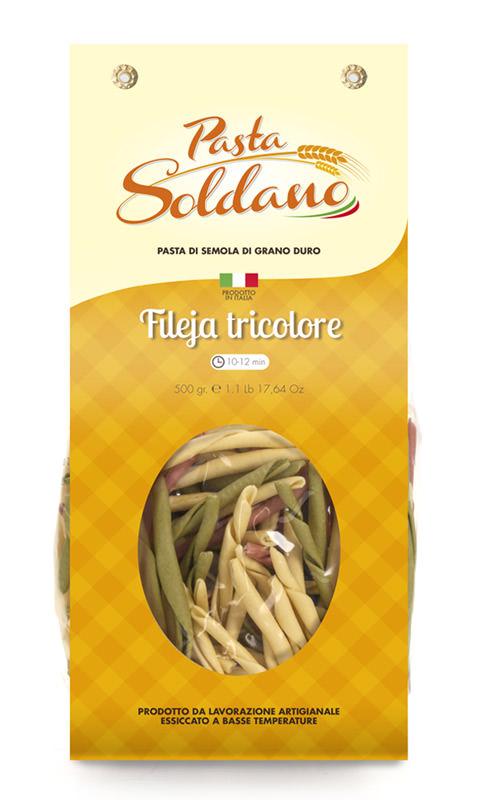 Pasta Soldano Fileja Tricolore 500g