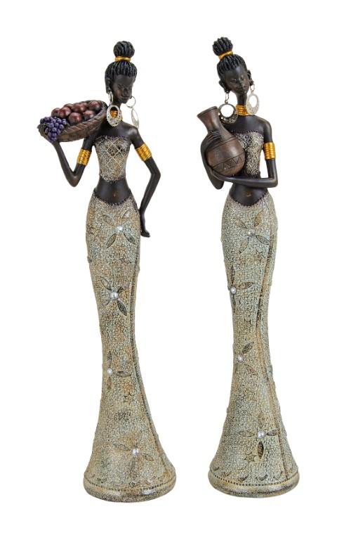 African lady figoura polyresin 11x36x8cm