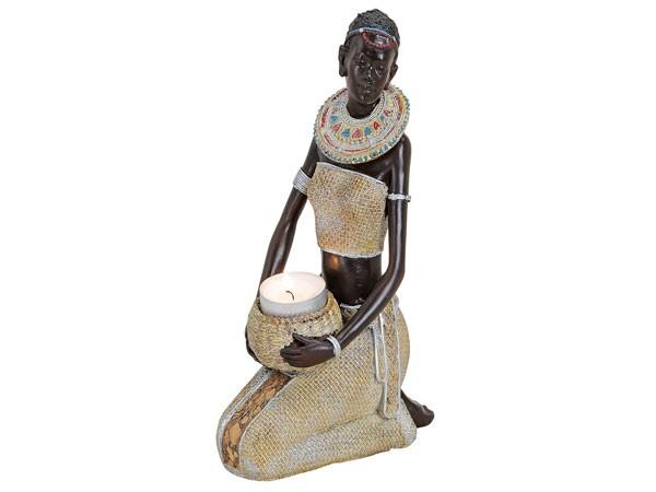 AFRICAN WOMAN 14X7X22CM