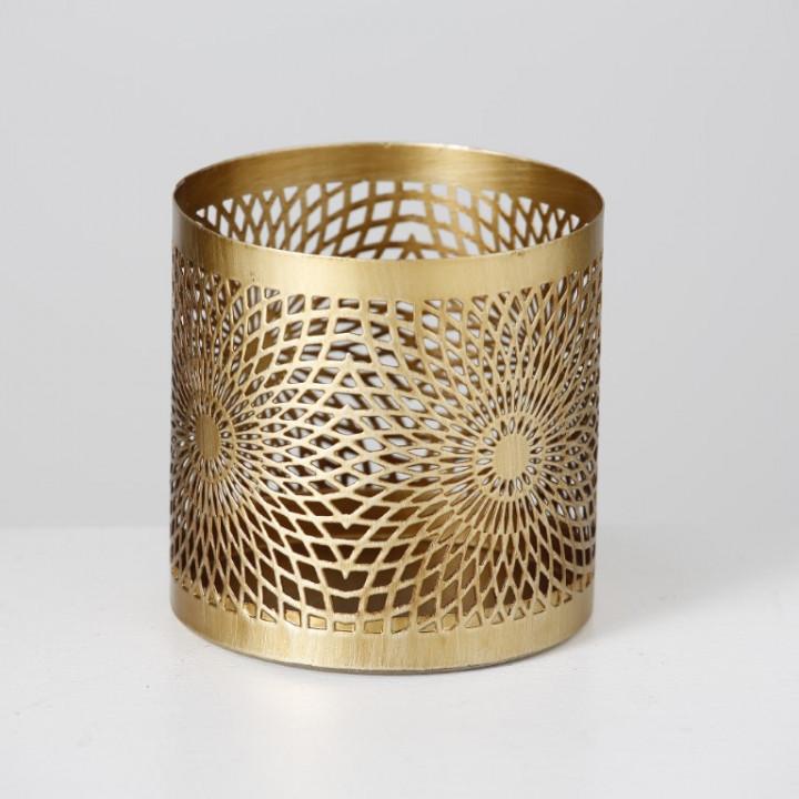 candle holder gold big
