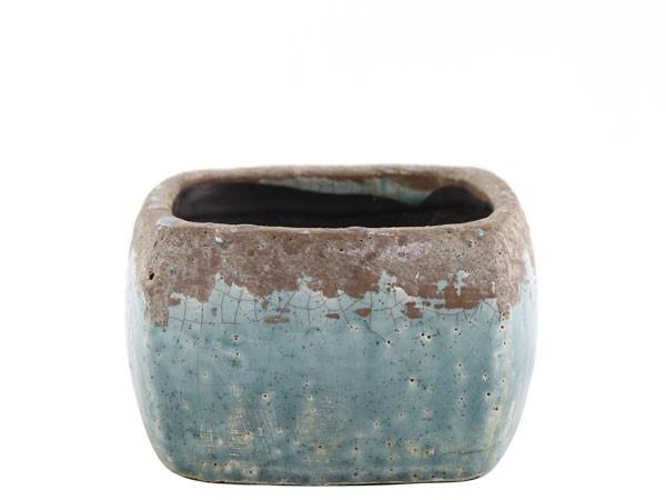 flower pot l blue tetragoni s