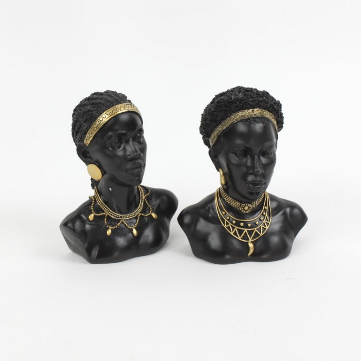 AFRICAN LADY 22/23CM 2 PIECES