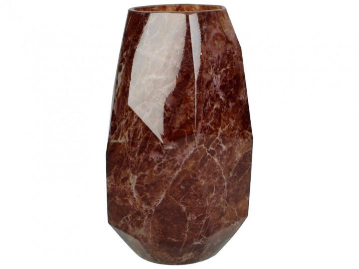 CANDLEHOLDER GLASS BURGUNDY 10X10X18CM